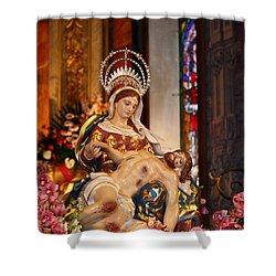 Nossa Senhora Da Piedade Shower Curtain by Gaspar Avila