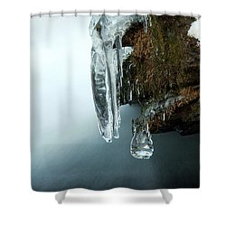 Of Ice And Water Shower Curtain by Darren Fisher