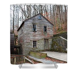 Shower Curtain featuring the photograph Old Grist Mill by Paul Mashburn