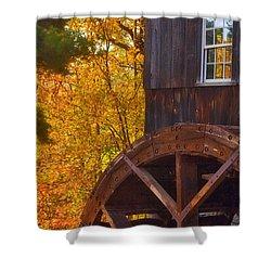 Old Mill Shower Curtain by Joann Vitali
