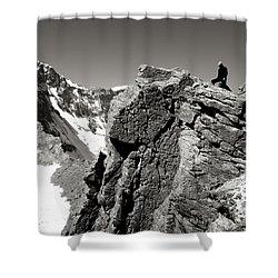On The Rock Shower Curtain by Konstantin Dikovsky
