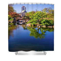 Osaka Japanese Garden Shower Curtain