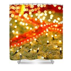 Outdoor Christmas Decorations Shower Curtain by Gaspar Avila