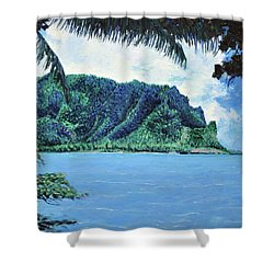 Pacific Island Shower Curtain by Stan Hamilton