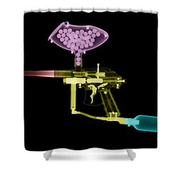 Paintball Gun Shower Curtain by Ted Kinsman