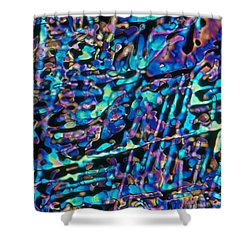 Paradichlorobenzene Crystals Shower Curtain by Michael Abbey and Photo Researchers
