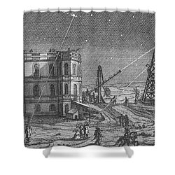 Paris Observatory, 17th Century Shower Curtain by Science Source