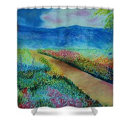 Patricia's Pathway Shower Curtain