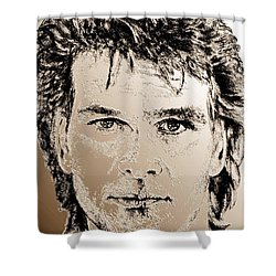 Patrick Swayze In 1989 Shower Curtain by J McCombie