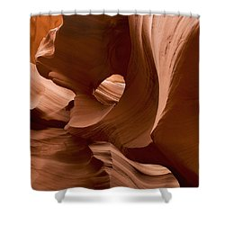 Patterns In The Smooth Sandstone Shower Curtain by Keith Levit