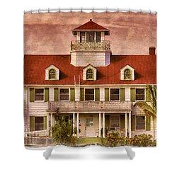 Peanut Island Shower Curtain by Debra and Dave Vanderlaan