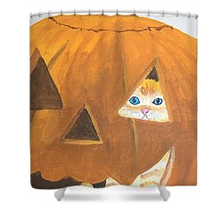 Shower Curtain featuring the painting Peekaboo by Norm Starks