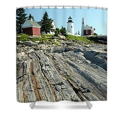 Pemaquid Point Lighthouse Shower Curtain by Ted Kinsman