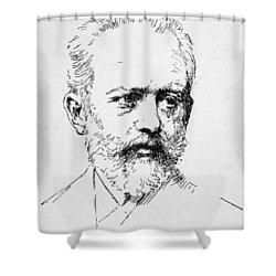 Peter Ilich Tchaikovsky Shower Curtain by Granger
