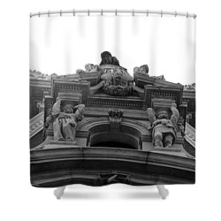 Philadelphia City Hall Looking Up Shower Curtain by Bill Cannon