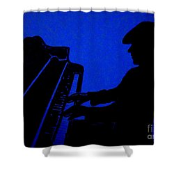 Piano Man Shower Curtain by Julie Brugh Riffey