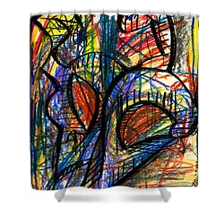 Picasso Shower Curtain by Sheridan Furrer