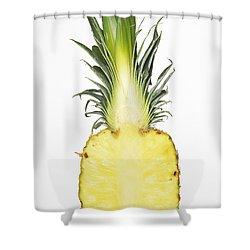 Pineapple Ananas Comosus Shower Curtain by Matthias Hauser