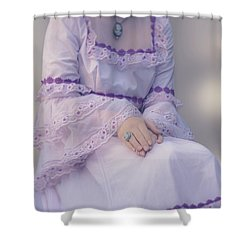 Pink Wedding Dress Shower Curtain by Joana Kruse