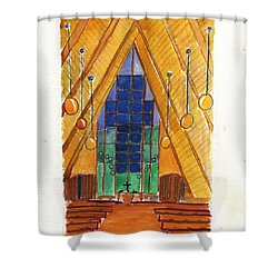 Placerville Chapel Shower Curtain