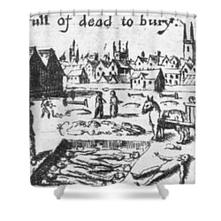 Plague, 1665 Shower Curtain by Science Source
