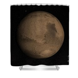 Planet Mars Shower Curtain by Stocktrek Images