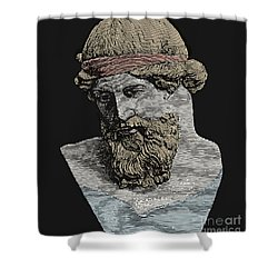 Plato, Ancient Greek Philosopher Shower Curtain by Science Source