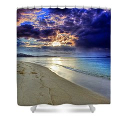 Shower Curtain featuring the photograph Port Stephens Sunset by Paul Svensen