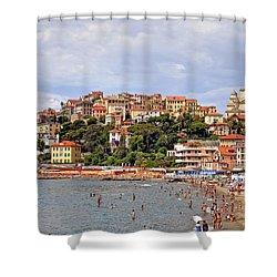 Porto Maurizio - Liguria Shower Curtain by Joana Kruse