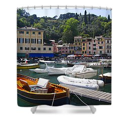 Portofino In The Italian Riviera In Liguria Italy Shower Curtain by David Smith