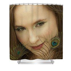 Portrait Shower Curtain by Daniel Csoka