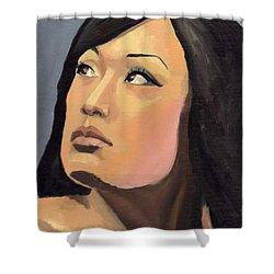 Portrait Shower Curtain