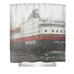 Post Ship  Shower Curtain by Heiko Koehrer-Wagner