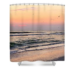 Postcard Shower Curtain by Angela Rath