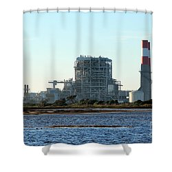 Power Station Shower Curtain by Henrik Lehnerer