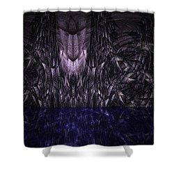 Purple Caverns Shower Curtain by Christopher Gaston