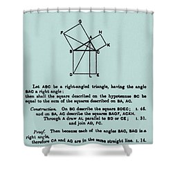 Pythagorean Theorem In English Shower Curtain by Science Source