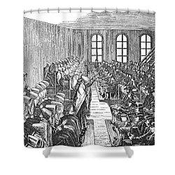 Quaker Meeting Shower Curtain by Granger