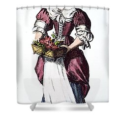 Quaker Woman 17th Century Shower Curtain by Granger