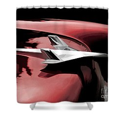 Red Chevy Jet Shower Curtain by Douglas Pittman