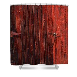 Red Shed Shower Curtain by RC DeWinter