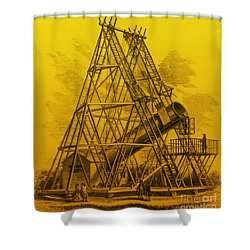 Reflecting Telescope, 1789 Shower Curtain by Science Source