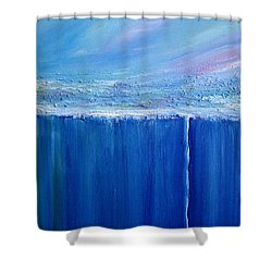 Shower Curtain featuring the painting Reflection Of Yesterday Series by Dolores  Deal