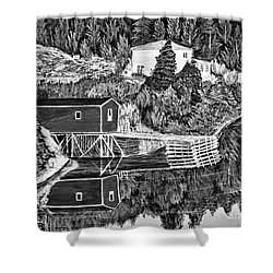 Reflections B W Shower Curtain by Barbara Griffin