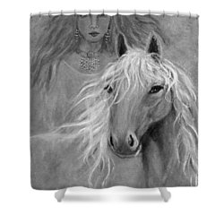 Rhiannon Shower Curtain by The Art With A Heart By Charlotte Phillips