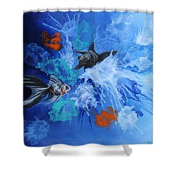 Richies Fish Shower Curtain by Wendy Shoults