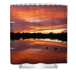 Shower Curtain featuring the photograph Riparian Sunset by Tam Ryan