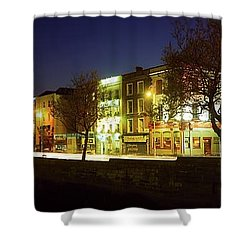 River Liffey, Dublin, Co Dublin, Ireland Shower Curtain by The Irish Image Collection