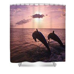 Roatan, Bay Islands, Honduras Two Shower Curtain by Stuart Westmorland