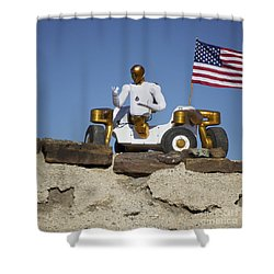 Robonaut 2 Poses Atop Its New Wheeled Shower Curtain by Stocktrek Images
